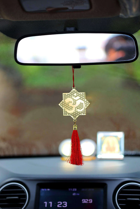 Hindu Om Symbol Hanging Accessories for Car - Red - artystagallery