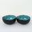 'Button on Top' Black Ceramic Serving Bowl