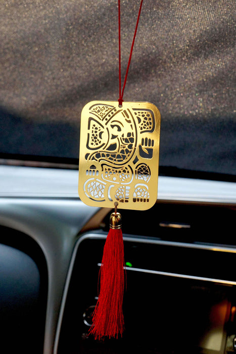 Geometrical Ganpati Hanging Accessories for Car - artystagallery
