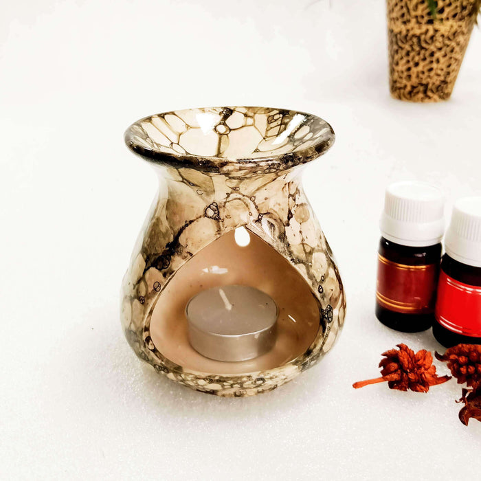 Handcrafted Ceramic Aroma Oil Diffuser With 2 Fragrance | Aroma Oil Burner - artystagallery