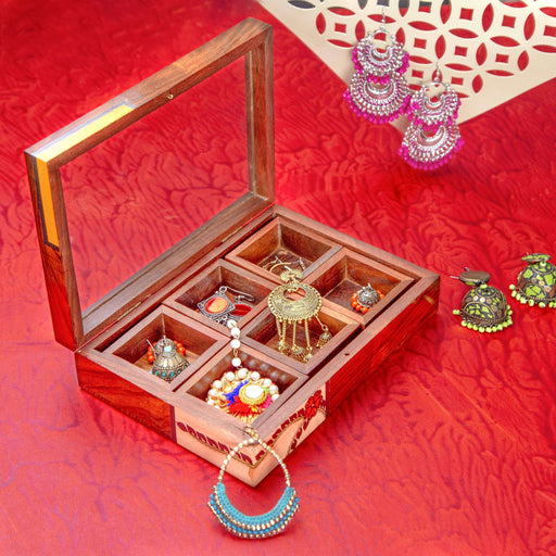 Handcrafted Wood Jewellery Box For Women - artystagallery