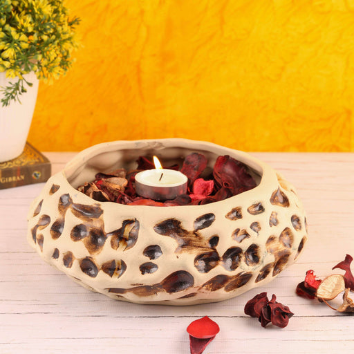 Handmade Ceramic Decorative Bowl With Potpourri - artystagallery