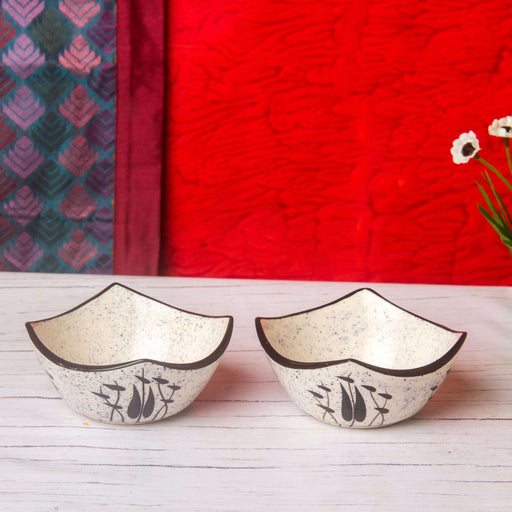 Handmade Stoneware Serving Bowls Set of 2/ Mixing Bowls - artystagallery