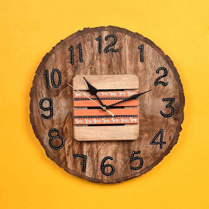 Handmade Wooden Wall Clock For Living Room | Designer Wall Clock | Antique Wall Clock - artystagallery