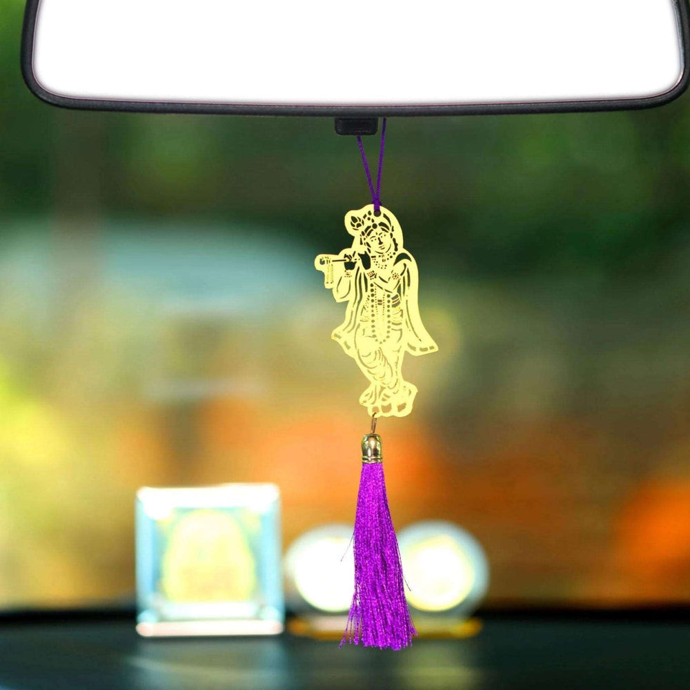 Hindu God Shri Krishna Car rear view mirror hanging décor - artystagallery
