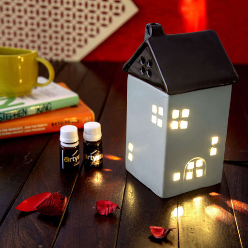 Hut Shaped Electric Aroma Diffuser Essential Oil Burner - artystagallery