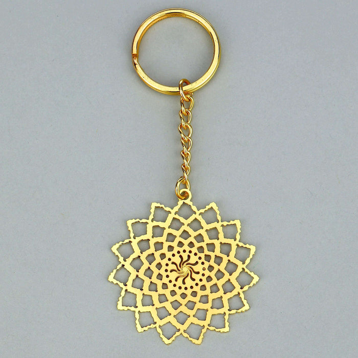 Noor Collection Jaali Brass Key Chain - artystagallery