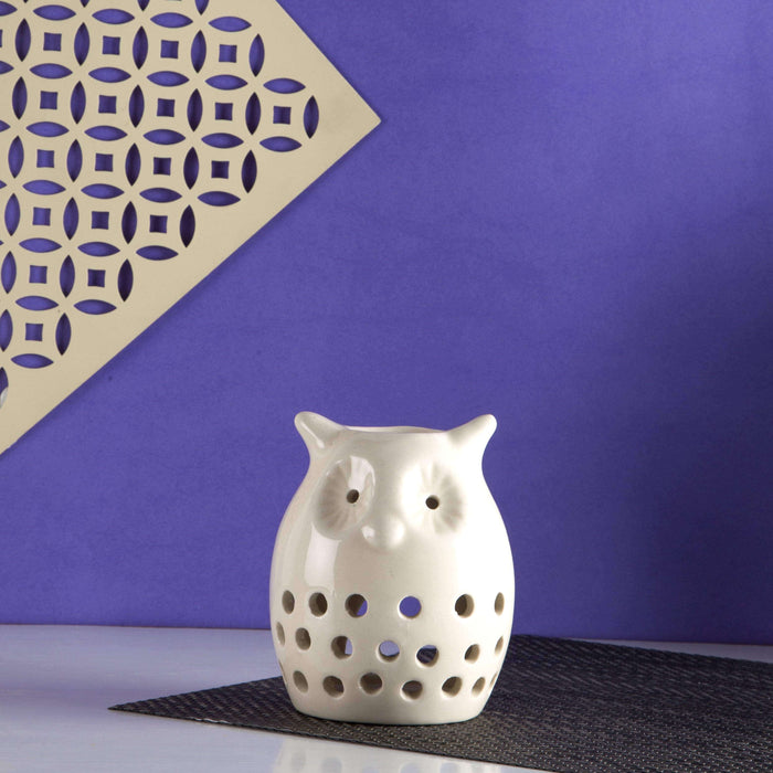 Owl Shaped Essential Oil Burner With Two Fragrance - artystagallery