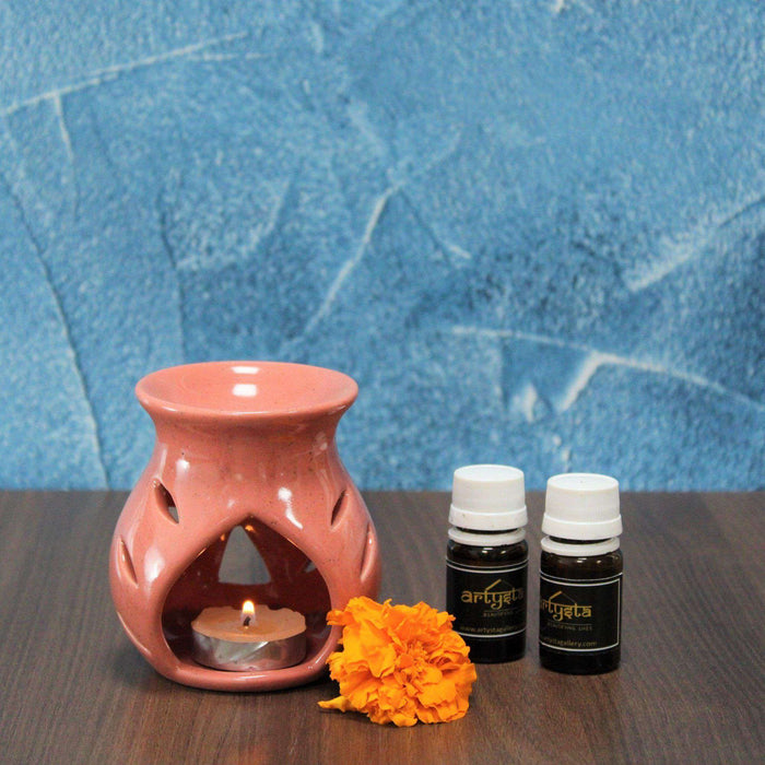 Peach Aroma Oil Diffuser Set With Two Fragrance - artystagallery