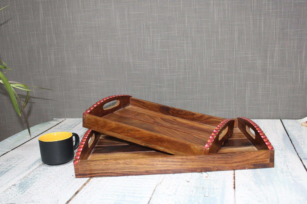 Rectangle Wooden Serving Tray - artystagallery