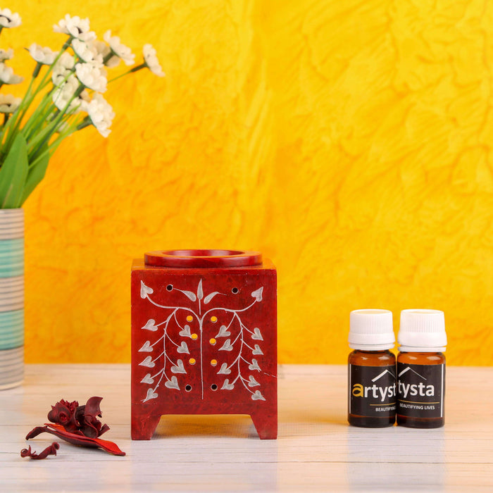 Red Aroma Oil Diffuser With Fragrance - artystagallery
