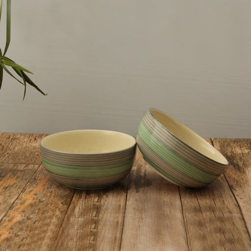 'Rings of Beauty' Handglazed Set of 2 Serving Bowls In Ceramic - artystagallery