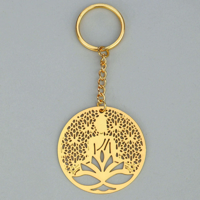 Rythym Collection Buddha Brass Key Chain - artystagallery