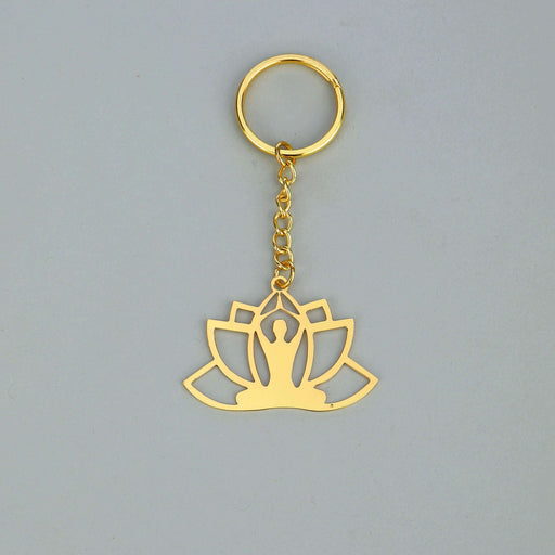 Rythym Collection Yoga Brass Key Chain - artystagallery