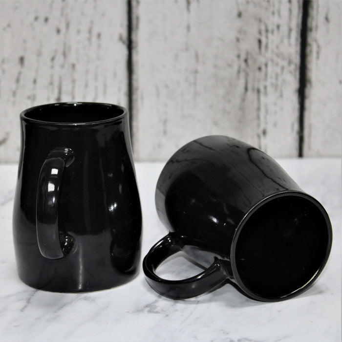 Set of 2 Ceramic Black Coffee Mug - artystagallery