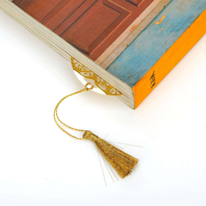 Tree of Life Golden Brass Metal Bookmark with Golden Tassel - artystagallery