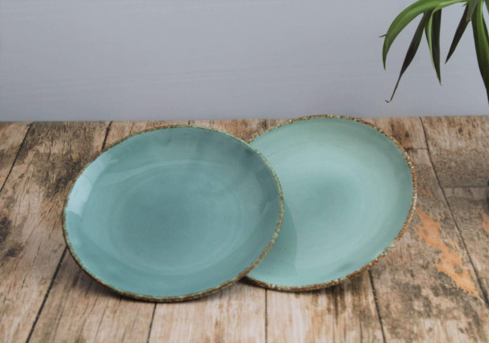 """Turquoise Dine"" Set of 2 Ceramic Plates - artystagallery"