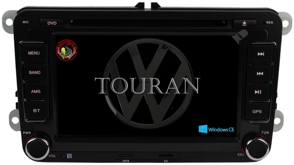 Autoradio GPS VOLKSWAGEN Touran 2003-2015 Version Windows CE
