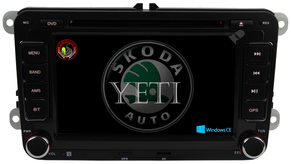 Autoradio GPS SKODA Yeti 2009-2013 Version Windows CE