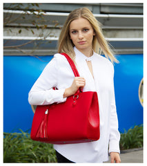 Red Work tote