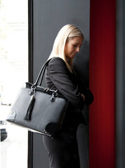 black work tote