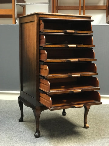 Oak sheet music cabinet