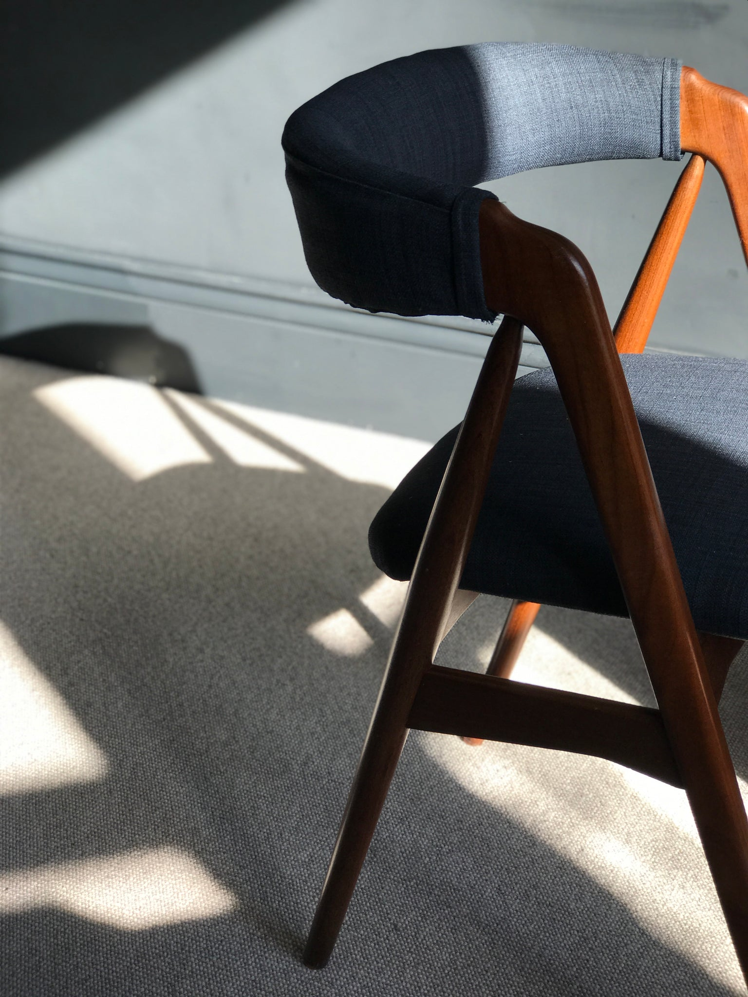 Teak Danish retro mid-century Haslev desk chair