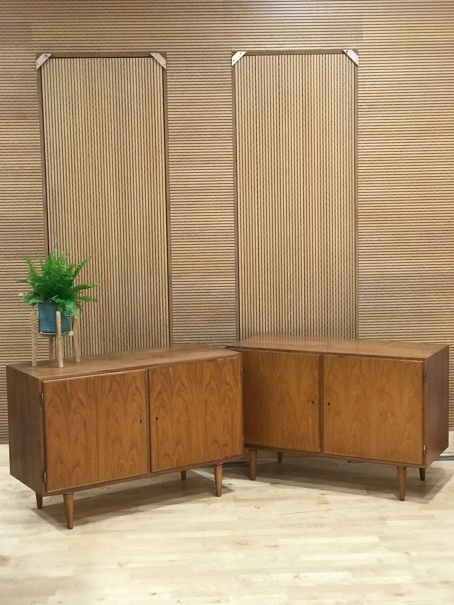 Carlo Jensen for Hundevad & Co, small Danish mid-century cabinets