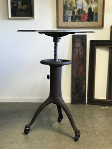 Industrial tripod instrument tables on wheels