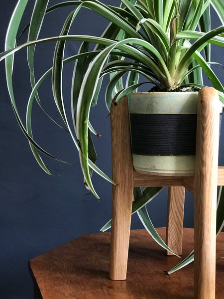 Curved mid-century plant pot stands