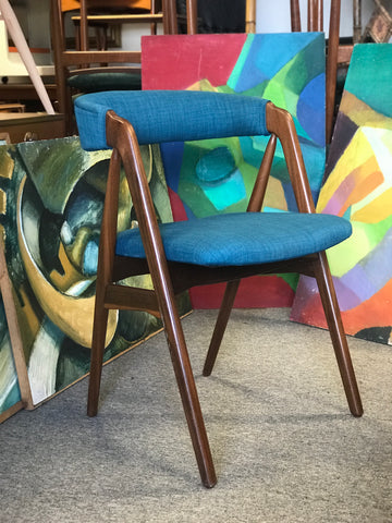 Teak Danish mid-century retro vintage dining chair by Haslev