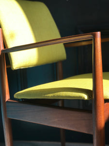 Dalescraft afromosia occasional mid-century chair • retro • vintage
