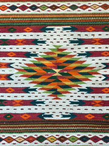 Beautiful colourful geometric rug