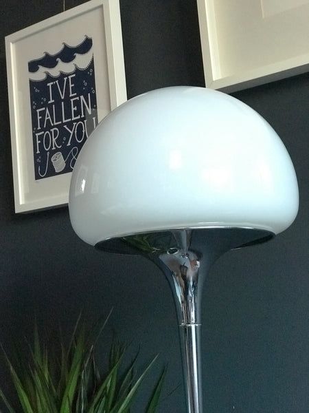 Mid century Goffredo Reggiani Italian Chrome and Glass Floor Lamp retro vintage 60s 70s