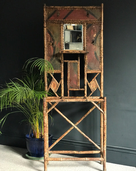 Antique Edwardian bamboo hallstand