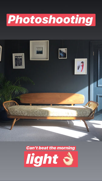 Blonde Ercol Studio Couch / Daybed
