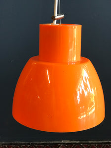 Retro orange pendant lights by Alvaro Siza for Reggiani
