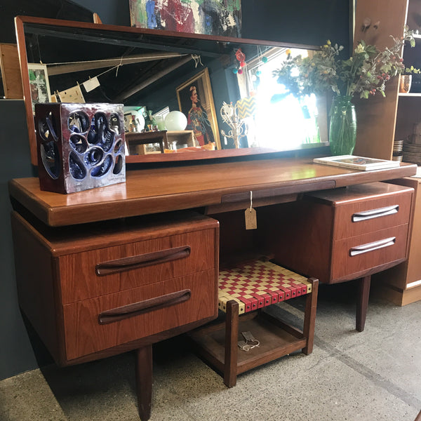 GPlan Fresco teak dressing table / desk • retro • vintage • mid century