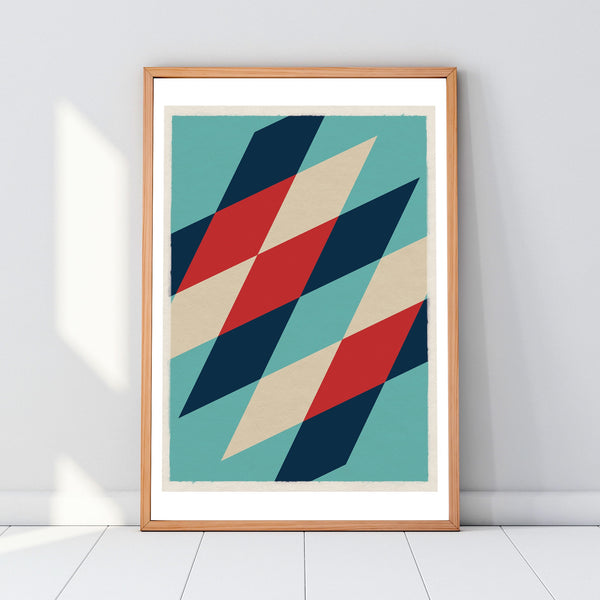 MCM inspired geometric artwork prints posters
