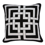 Parkland Collection Decorative Transitional Black and White Pillow Cover  PILA11001C