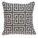 Parkland Collection Decorative Transitional Grey and White Pillow Cover PILA11008C