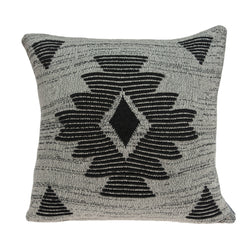 Parkland Collection Decorative Southwest Grey Pillow Cover PILB11038C