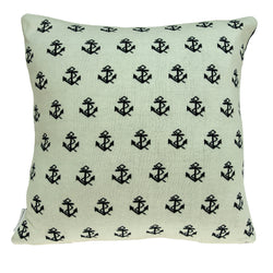 Parkland Collection Decorative Nautical Blue Pillow Cover With Poly Insert PILB11051P