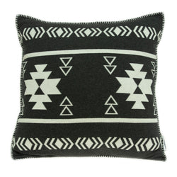 Parkland Collection Decorative Southwest Black Pillow Cover With Poly Insert PILB11053P