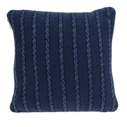 Parkland Collection Decorative Transitional Blue Pillow Cover With Poly Insert PILB11068P