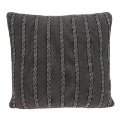 Parkland Collection Decorative Transitional Charcoal Pillow Cover With Poly Insert PILB11070P