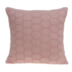 Parkland Collection Decorative Transitional Pink Pillow Cover With Poly Insert PILB11075P