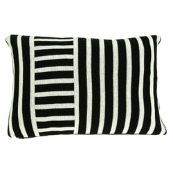 Parkland Collection Decorative Transitional Black Pillow Cover With Poly Insert PILB11082P