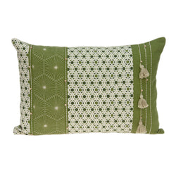 Parkland Collection Decorative Tropical Green Pillow Cover PILD11097C