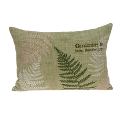 Parkland Collection Decorative Tropical Green Pillow Cover PILD11098C